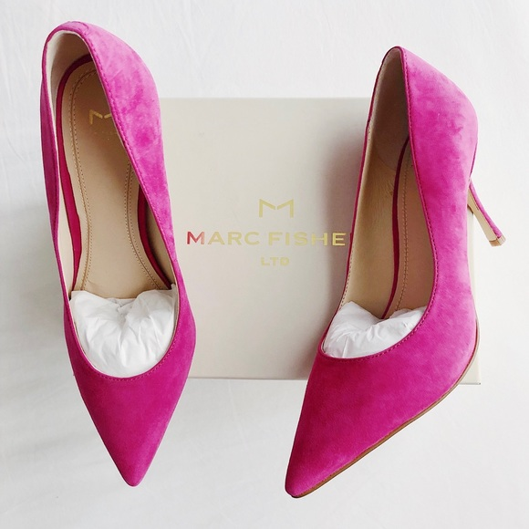 19bf7d72942 New MARC FISHER Carter Suede Pointed Toe Pumps